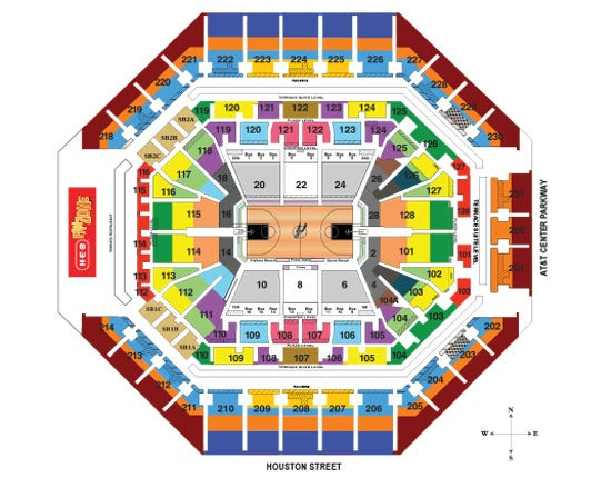 Seating Charts | Att Center
